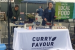 Bridget Francis, of Curry Favour, showed how to make curry using ingredients purchased from the market