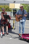 G&T (Gillian and Tony), from Eltham, create and perform whimsical songs that tell stories.