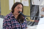 Elissa Franceschi, temporarily resident in Eltham, sang and played piano.