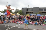 Simon Wright, from Eltham, performed acrobatics and knife juggling, whilst balancing on a 10 foot unicycle!
