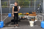 Bonnie Taylor sold homegrown produce (tomatoes, zucchinis and nashi pears) and chutneys