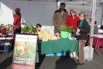 Deb and Andrew Stahmer sold lemons, tamarillos and herbs (the person on the right of the photo is a photo bomber).