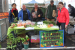 St Johns Riverside Community Garden (Alastair, Frank, Katrina, Mui Nui and Sylvia) sold a range of fruit and veggies.