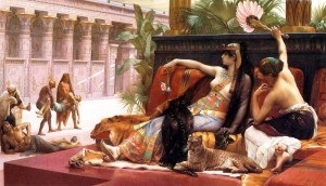 cabanel - Cleopatra testing poisons on those condemned to death (1887)
