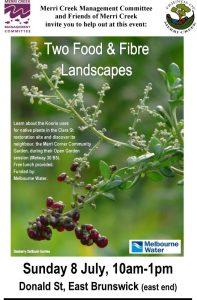 Two foods & fibre landscapes @ Merri Corner Community Garden | Brunswick East | Victoria | Australia