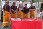 Eltham Fire Brigade handed out information about fire risks and fire plans.
