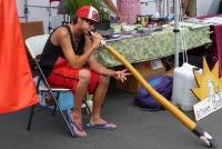 Brent Watkins played the didgeridoo.