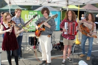 Disgruntled Architect are a 6-piece band from Templestowe College who play upbeat music in gypsy and Arabic folk styles.