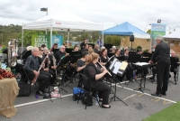 The 30-strong Eltham Concert Band played a wide variety of tunes.