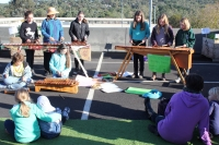 The Greensborough Primary School Marimba Group play marimba, which are percussion instruments consisting of a set of wooden bars struck with mallets.