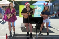 Luna The Moon are a ukulele trio from Eltham who perform everything from The Beatles to Britney Spears.