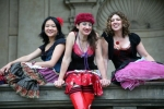 The Stiletto Sisters, a trio comprising violin, accordion, double bass and singing, play a blend of tangos, gypsy dances, klezmer, waltzes and love songs from Hungary, Russia, France and Latin America.