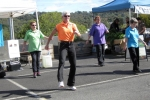 Caro, from 'Bootscootn Basics' in Diamond Creek, led her group of country line dancers.