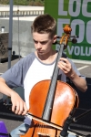 Lucas played Christmas Carols on his cello.