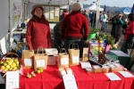 Elodie and Tash, from Calendula Fields, sold limes, figs, honey, edible flowers and bee products (the photo is of Tash).
