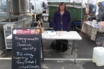 Cath Lyons sold pomegranates.