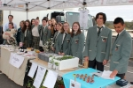 Students from Eltham College sold bliss balls, seedlings and skincare products.