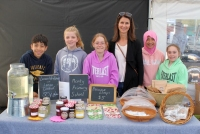 Students from Montmorency Primary Schoolsold strawberry jam, cordials, beeswax food wraps, lip balms and fruit/herbal teas