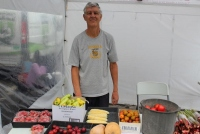 Stuart Rodda sold a wide variety of fruit and veggies.